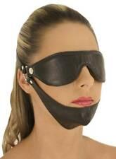 S-Ledapol - Echt Leder Fetisch Augenmaske mit Kinn in diversen Farben