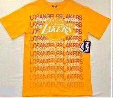 NBA LA Lakers Men's T Shirt S M L Yellow Purple White Basketball Sport Athletic