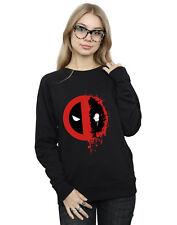 Marvel Women's Deadpool Split Splat Logo Sweatshirt