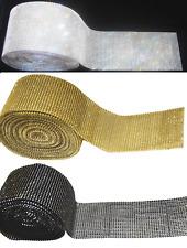 1 Foot Diamante Real Crystal Trim Decoration Costume Ribbon Mesh Rhinestone Cake