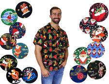 Funky Hawaiian Shirts Christmas Designs Various Colours X-mas
