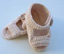 Cute Handmade Cotton BEIGE Summer Sandals for BOYS or GIRLS