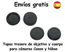Tapas trasera de Objetivo y cuerpo para Nikon Canon Sony y M42