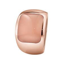 XEN Ring mit 15x12 mm großen Chalzedon rosé-vergoldet