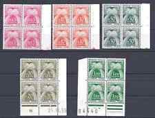 TIMBRES FRANCE TAXE 1960 Série n°90 au n°94 en BLOC DE 4 NEUF** COTE 360€