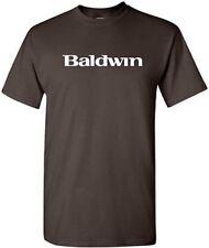 BALDWIN T-shirt PIANO MUSIC Keyboard Shirt 80s Pop TEE