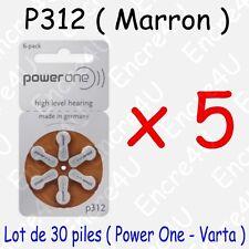 30 piles auditives : MARRON P312 ( = 5 blisters )