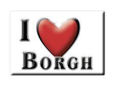 SOUVENIR UK - SCOTLAND MAGNET UNITED KINGDOM I LOVE BORGH (WESTERN ISLES)