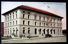 Phoenix AZ~ 1900's Post Office ~ Old Auto and USA Flag