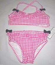NWT BABY GAP Girls Pink Checkered Bathing Swimsuit 18-24  2  3  4  5