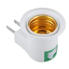 E27 Wall Plug-in Screw Base Light Bulb Lamp Socket Holder Adaptor US/EU Plug