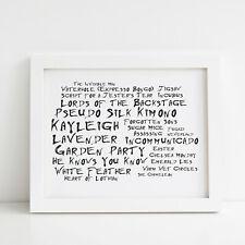Marillion Poster, Greatest Hits, Framed Original Art, Album Print Lyrics Gift