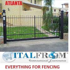 portail portes de jardin coulissant galvanisé fer forgé (Atlanta)