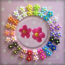 Colore POP Daisy Orecchini. carino e Kitsch. molti colori a scelta: -)