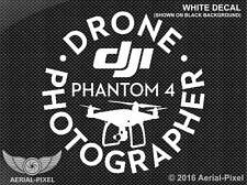 DJI Phantom 4 Drone Photographer Window Decal Sticker Black, White or Red