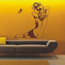 Mujer Cuerpo Y La Mariposa arte de pared calcomanía, Decoración De Pared, Calcomanías De Pared-pd131