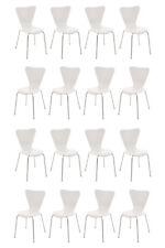 16X Chaise visiteur CALISTO bois métal chromé empilable cuisine réunion neuf