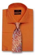 Dress Shirt Steven Land Spread Collar Square French Cuff-Orange-TA1747-OR