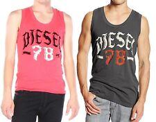 NWT Diesel LOGO Crew Neck Tee Front Print Sleeveless T-Shirt