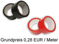 Bondage Tape (0,28 EUR/Meter) Ribbon Band Schwarz Rot Pink Silber Bondagetape