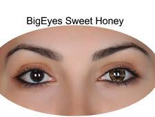 Farbige braune Korrekturlinsen Big Eyes Sweet Honey Mit Stärke Puppenaugen