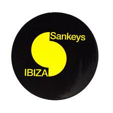 OFFICIAL Sankeys Ibiza Club Sticker Cool Smiley Love Night Music Blue Emoji