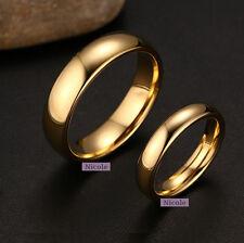 TITANIUM Surgical Steel 18K Gold Filled Polish Comfort Fit Wedding Band Ring M12