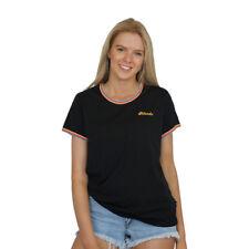 6074531f59 Women s Afends Rainbow Ringer Standard Fit Short Sleeve Tee Shirt Top Black