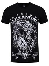 Chiedendo ALEXANDRIA IMPLACABILE Snake Uomo Nero T-shirt
