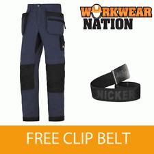 6206 LiteWork, Navy Comfort 37.5® Work Trousers+ Holster Pockets FREE BELT