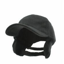 NWT Fleece Baseball Cap with Ear flaps winter warm hat Black