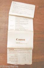 Garanzia vintage per Calcolatrice calcolatore calculator CANON palmtronic LC-8M