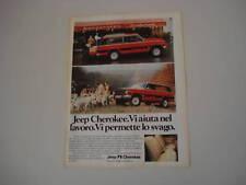 advertising Pubblicità 1980 JEEP CHEROKEE CHIEF