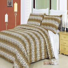 Cheetah 3-PC 100% Cotton Duvet Cover Set 300TC Animal Print Design Multi-Colored