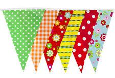 Garden Party Bunting 35 BANDIERA-BRIDAL baby shower partito Bunting STAMPA D'EPOCA