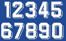 Felt 1980's 90's Football Shirt Soccer Numbers Heat Print Football Vintage A 3