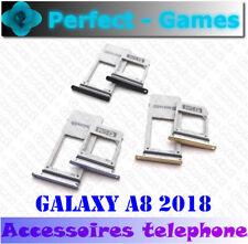 Samsung Galaxy A8 2018 support rack tiroir carte SIM micro SD card tray holder