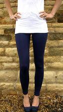 LONG LENGTH Leggings Viscose Elastane NAVY Size 6 - 24...  210 gsm