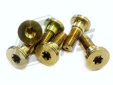 Brake Bolt Disc Rotor Screw Torx Forged 6AL-4V Titanium M8x1.25x23 Gr.5 Gold GY6