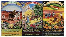 Ramblas Poster ferroviaire menée point de croix, aïda (printemps, été, automne