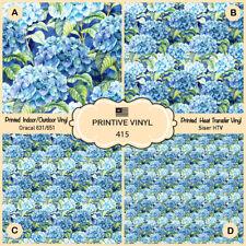 Watercolor Hydrangea flowers Printed HTV, Oracal ,Siser, Craft vinyl- 415