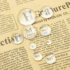 Transparent Crystal Hemisphere Glass Cabochon Dome Flatback Jewellery Setting