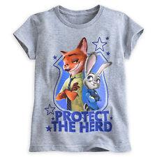 Disney Store Zootopia Judy Hopps & Nick Wilde Camiseta 2/3 4 5/6 7/8 10/12