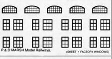 P&D Marsh N Gauge N Scale B581 facory windows (63) ready to use