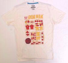 Marvel Threadless Build Your Own Iron Man Action Figure White T-Shirt Sizes M-L