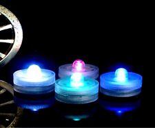 4x farbige LED Teelichter inkl. Batterien | flammenlose LED Kerzen | Windlicht