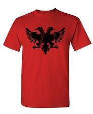 ALBANIAN EAGLE - funny retro albania flag - Cotton Unisex T-Shirt