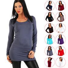 BALI Lingerie - Damen Longshirt Langarm Shirt Tunika - XS S M L XL XXL