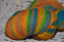 100% Schurwolle Tücherwolle Schafwolle Wolle Lace Strickgarn handgefärbt *930*