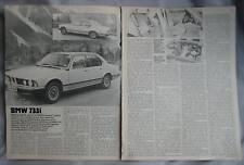 1979 BMW 733i Reprinted Motor Magazine Road test